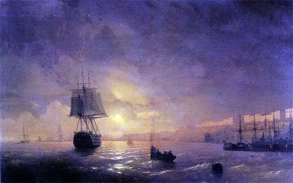 夜のオデッサ   Ivan Aivazovsky