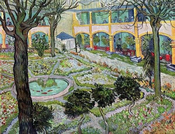 コートヤードホスピタルアーリー   Vincent Van Gogh