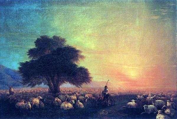 羊の群れ   イワンAivazovsky