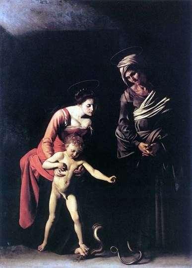 マドンナと蛇   Michelangelo Merisi da Caravaggio
