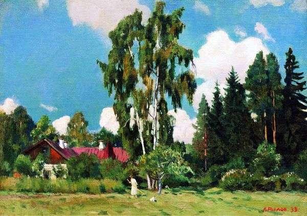 赤い屋根の家   Arkady Rylov