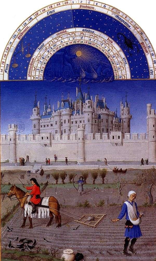 ベリー公爵の壮大な血統。10月   リンブルフ兄弟