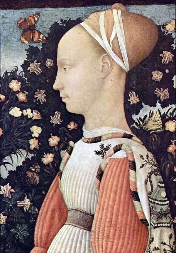 Ginevra d Este   アントニオピサネッロの肖像