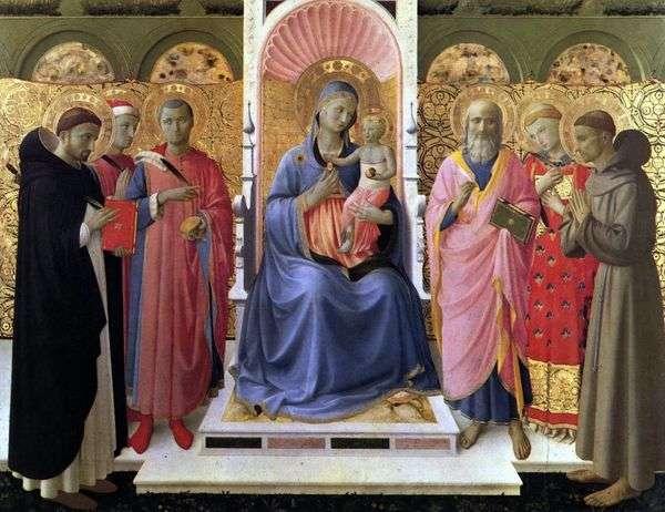 聖母子と聖母子   Angelico Fra