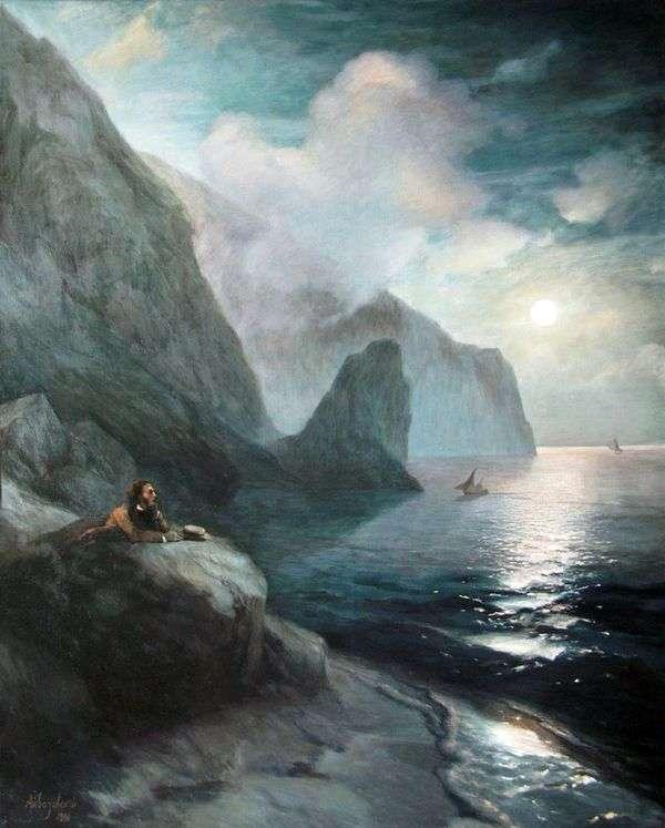 Gurzuf岩でクリミア半島のプーシキン   Ivan Aivazovsky
