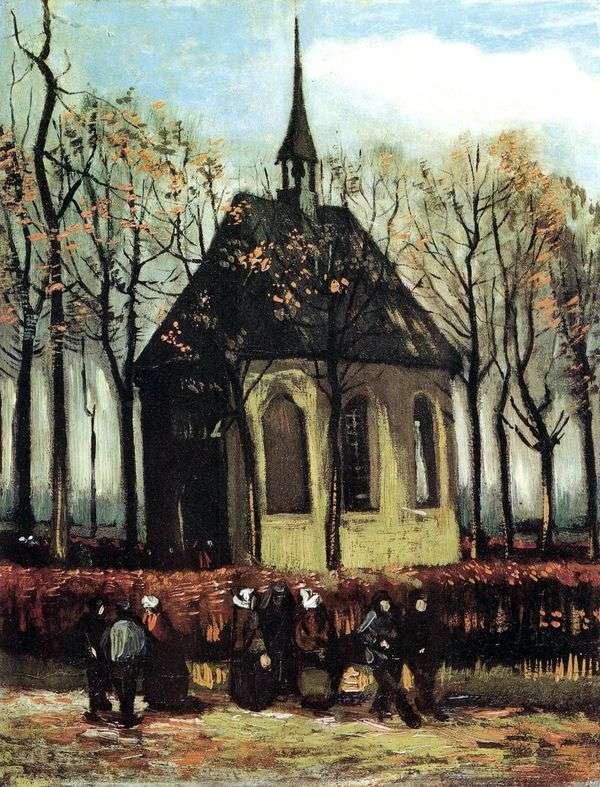Nuenen   Vincent van Goghのプロテスタント教会を出る