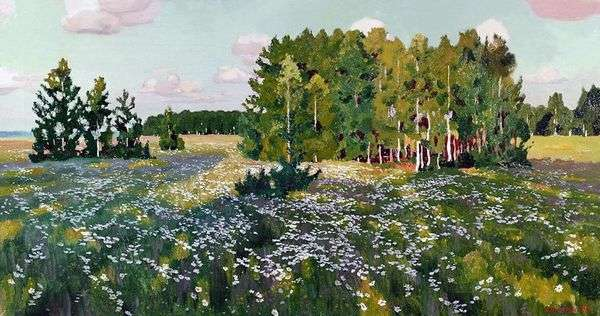 花の牧草地   Arkady Rylov