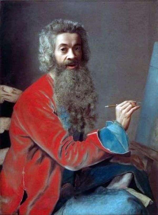 ひげのある自画像   Jean Etienne Liotard
