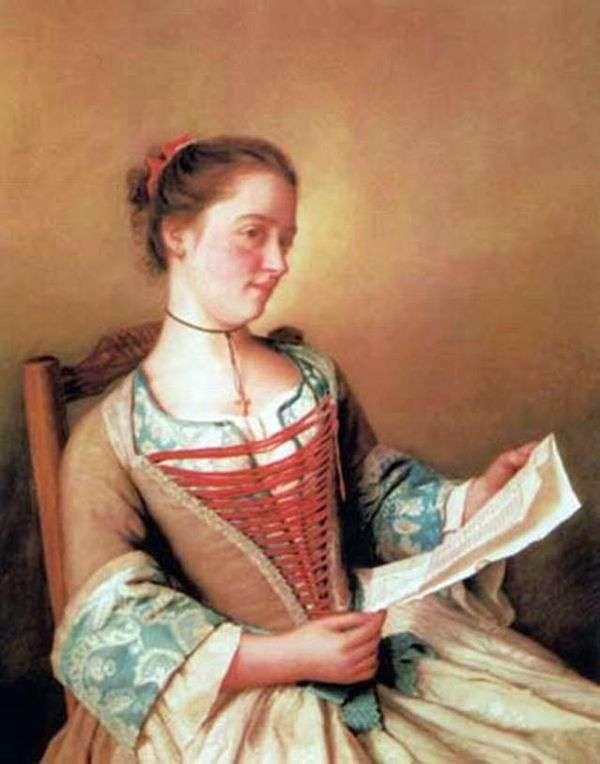 マドモアゼル・ラヴェルニュ、芸術家の姪   Jean ÉtienneLyotard