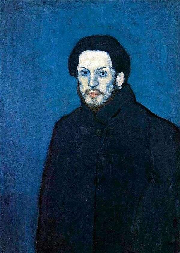 青の時代の自画像   パブロ・ピカソ