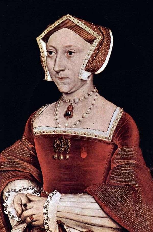 イギリスの女王ジェーン・シーモアの肖像   ハンス・ホルバイン