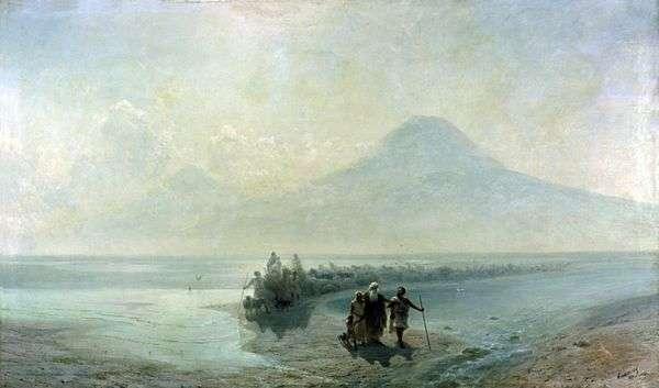アララトからのノアの降下   Ivan Aivazovsky