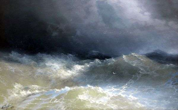 波の中で   Ivan Aivazovsky