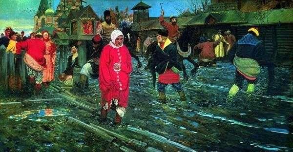 17世紀のモスクワ通りの休日   Andrei Ryabushkin