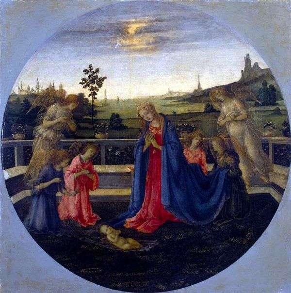 キリストの子の崇拝   Filippino Lippi