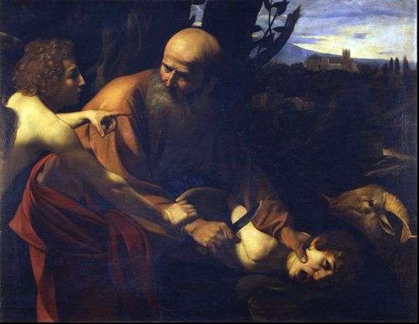 イサクの犠牲   ミケランジェロ・メリシ・ダ・カラヴァッジョ