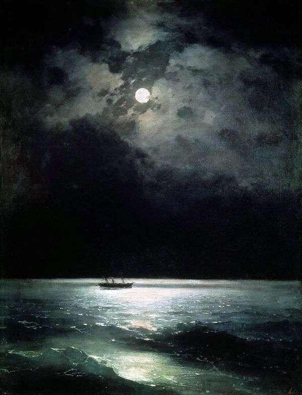 夜の黒海   イワンAivazovsky