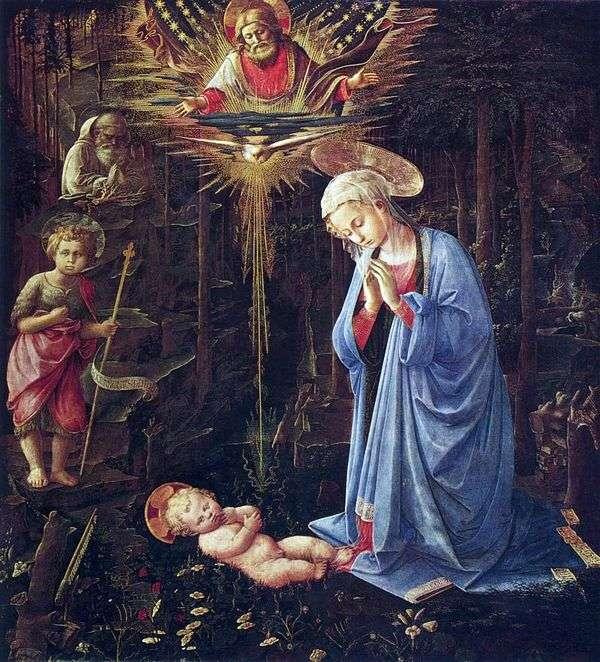 セントバーナードと幼児洗礼者ヨハネとの礼拝   Fra Philippe