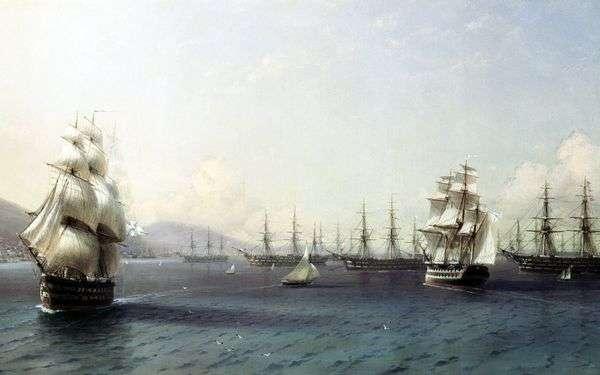 フェオドシアの黒海艦隊   Ivan Aivazovsky