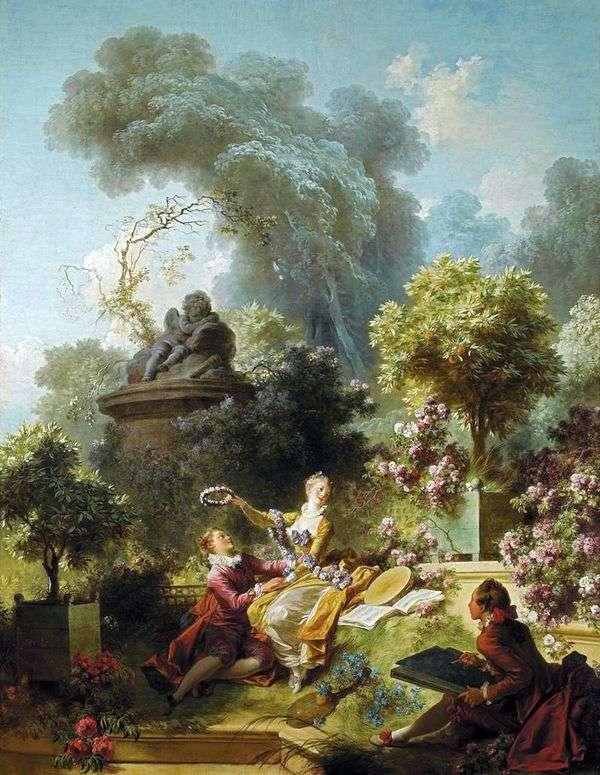 最愛の花輪   Jean Honore Fragonard