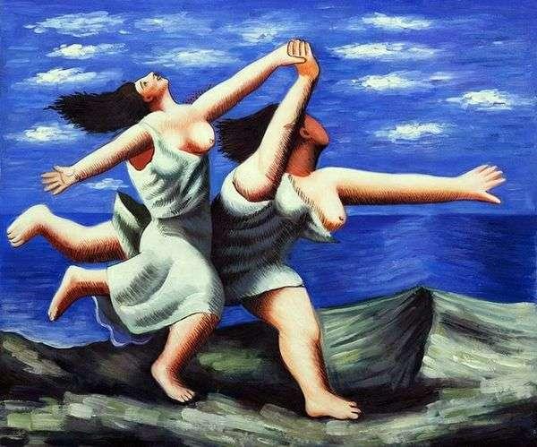 ビーチを走る2人の女性   Pablo Picasso