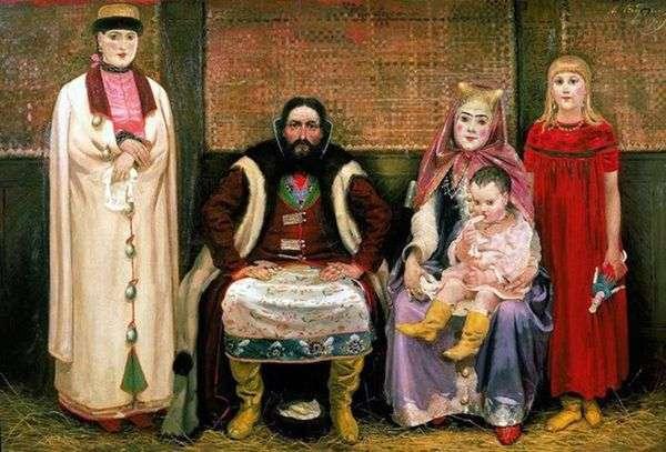 17世紀の商人の家族   Andrei Ryabushkin