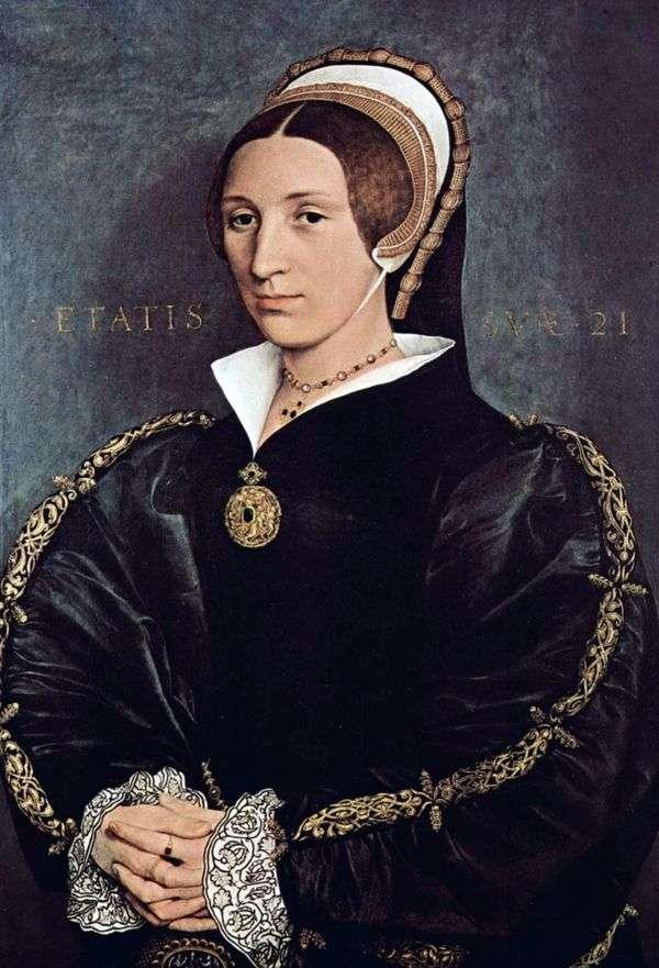 カタリーナ・ハワード、ヘンリー8世王の5番目の妻   ハンス・ホルバインの肖像