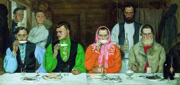 お茶を飲む   Andrey Ryabushkin