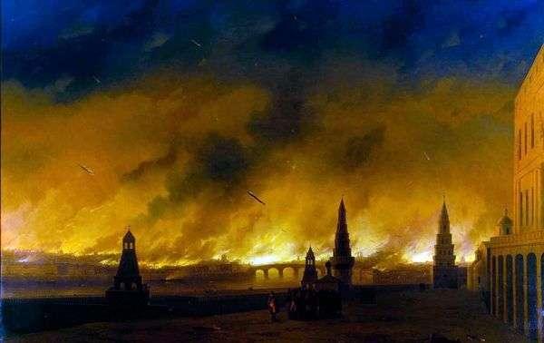 1812年モスクワの火   Ivan Aivazovsky