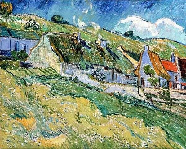 わらぶき屋根の家   Vincent Van Gogh