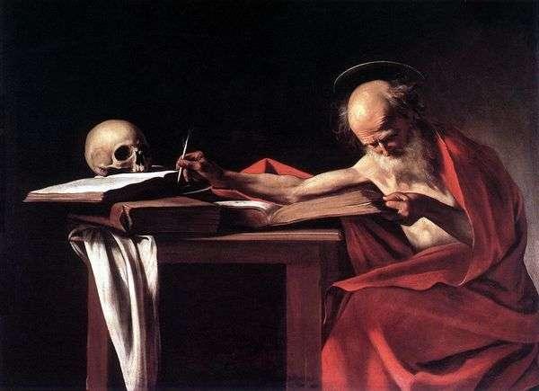 聖ジェロームの本   Michelangelo Merisi da Caravaggio