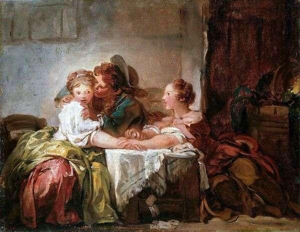 キスをした   Jean Honore Fragonard
