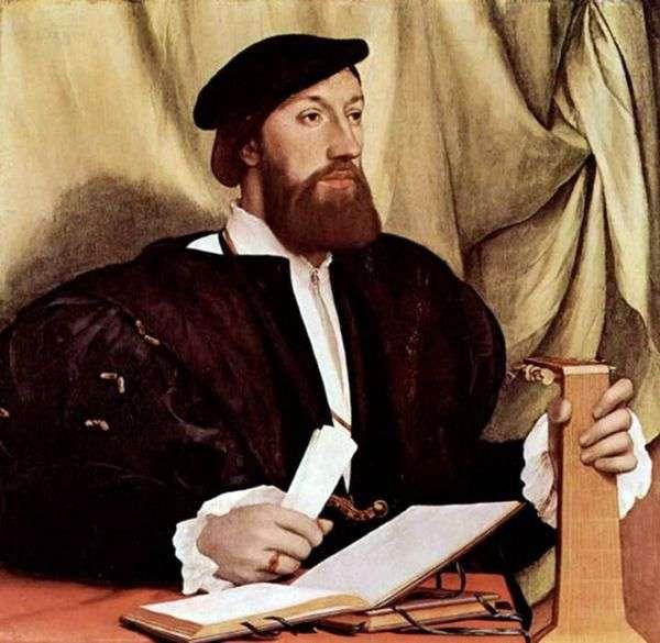 リュートを持つ男の肖像   Hans Holbein