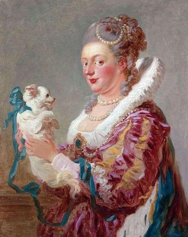 犬と一緒にいる女性   Jean Honore Fragonard