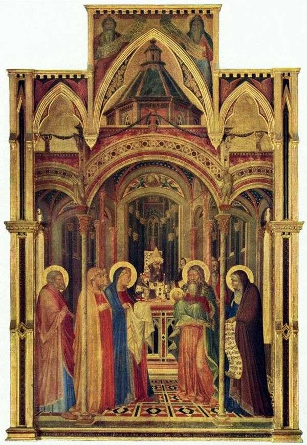 寺院にやってくる   Ambrogio Lorenzetti