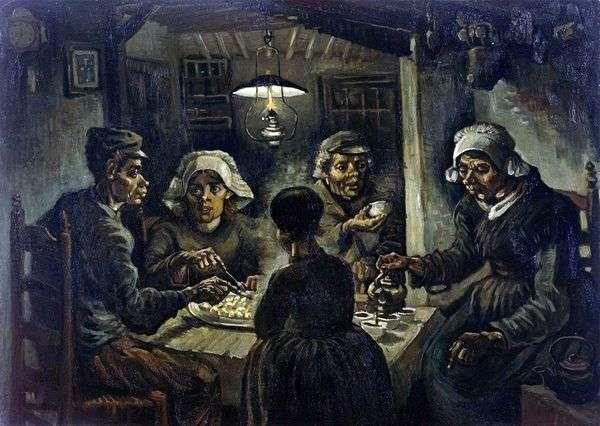 じゃがいもを食べる人   Vincent Van Gogh