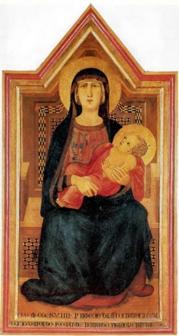 ヴィコラバーテのマドンナ   Pietro Lorenzetti