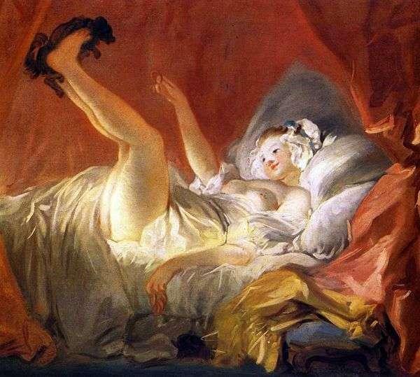 犬と遊んでいるガールフレンド   Jean Honore Fragonard