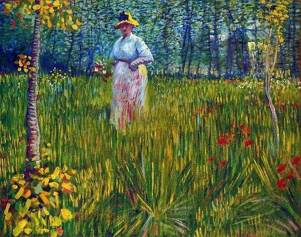 庭の女   ヴィンセントヴァンゴッホ