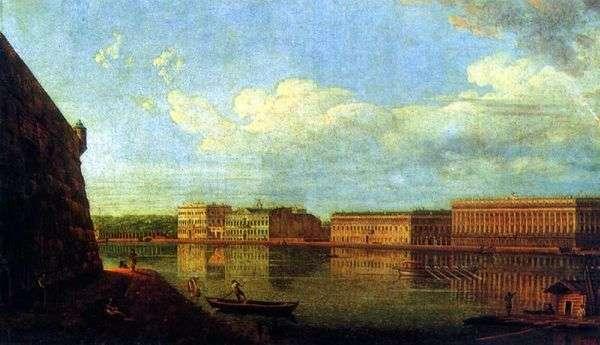 ペトロとパウロの要塞   アレクセーヴ大統領から宮殿の堤防の眺め