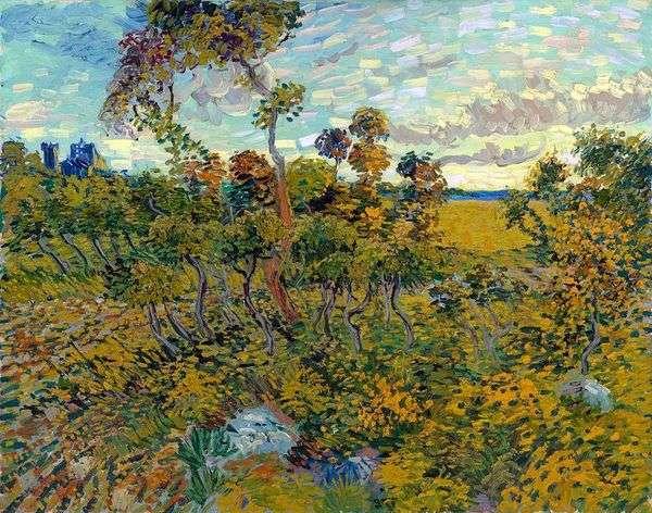Monmajour   Vincent Van Goghの夕日