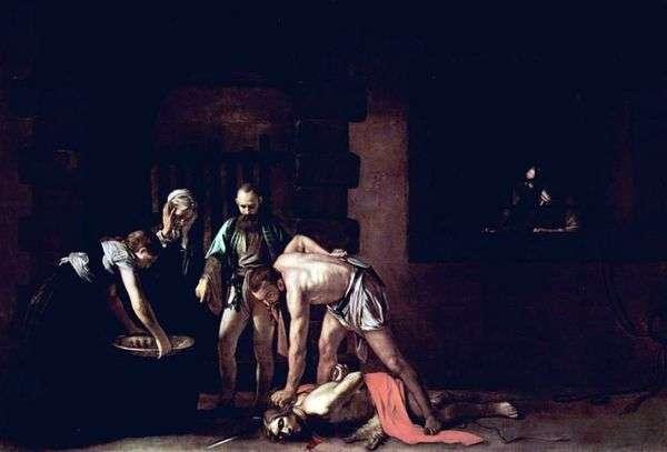 洗礼者ヨハネの斬首   ミケランジェロ・メリシ・ダ・カラヴァッジョ