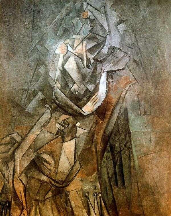 椅子に座っている女性   Pablo Picasso