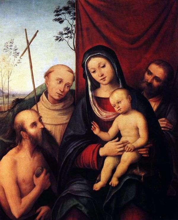 聖ジェロームとアッシジの聖フランシス   コスタロレンゾの聖家族