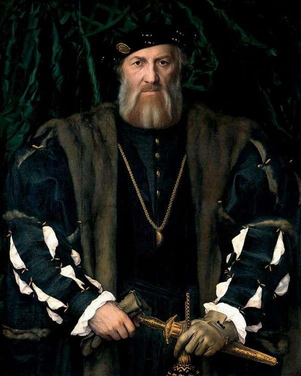 フランス駐在フランス大使、サー・モレシャルルドソリエ   ハンス・ホルバインの肖像