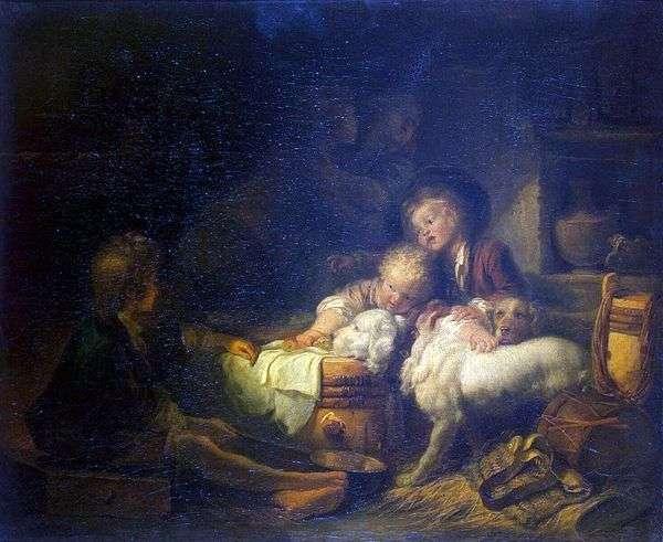 農民の子供たち   Jean Honore Fragonard