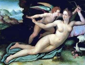 金星とキューピッド   Alessandro Allori