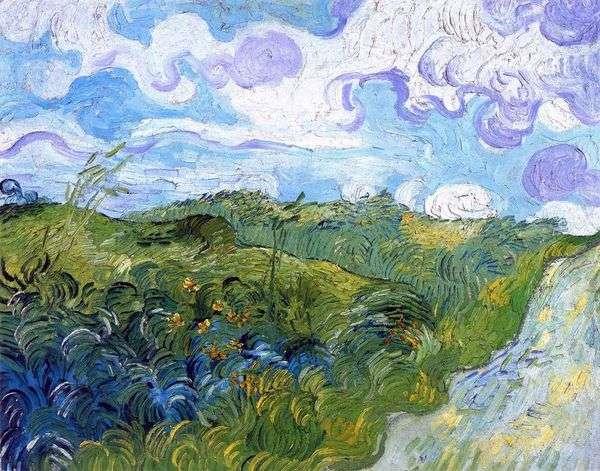 グリーン小麦畑   Vincent Van Gogh