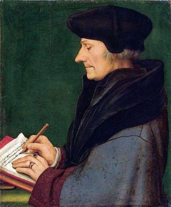 ロッテルダム   ハンス・ホルバインのエラスムスの肖像画