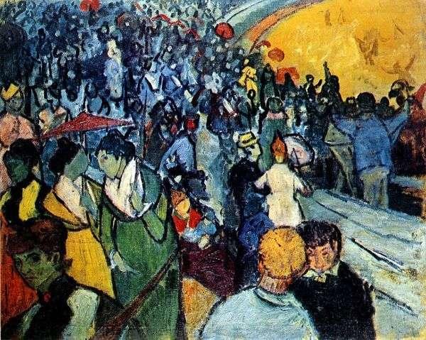 アルルの舞台で観客   Vincent Van Gogh